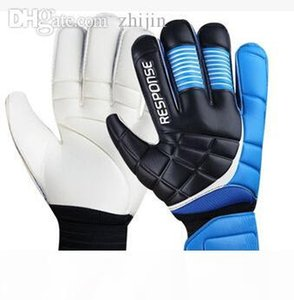 Wholesale-New Top Latex Goalkeeper Gloves Football With Fingerstall professional soccer goalkeeper gloves finger protection LATEX palm
