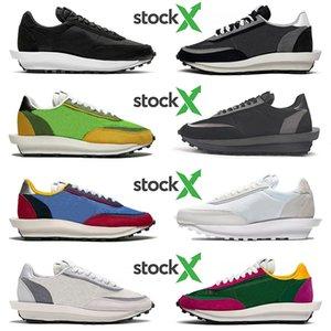 nike sacai waffle Beyaz Naylon Siyah Yeşil Gusto Aucai Üçlü Designer Sneakers Eğitmenler kapalı Ayakkabı Koşu Yeni Blazer Sacai LDV LD Waffle Daybreak Womens