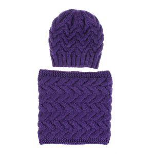 Knitted Beanies Cap Ring Set Scarf Beanie Hats Neckerchief Warm For Wool Hat Casual Scarves Winter Men Women LJA3125 Xuaci