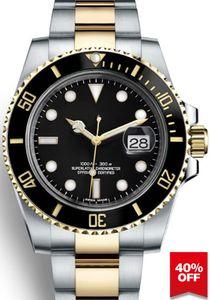 Mode Keramik-Lünette 2813 Mens Automatik-Uhrwerk Neue mechanischer Edelstahl-Uhr-Sport-Selbst Wind Uhren Armbanduhr