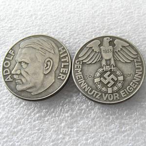 H (32) Deutschland 5 DM Gedenkmünzen 1933 kopieren Münzen Messing Craft Verzierungen