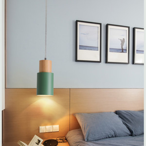 Nordic Pendant Lights LED hanglamp Colorful Aluminum fixture Lighting Kitchen Island bar hotel home decor E27 pendant lamp