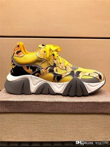 zapatos par de los nuevos modelos de hombres y mujeres del zurriago de malla inferior grueso aumentaron los deportes tamaño de los zapatos para correr 36-45