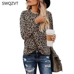 Leopard print women t shirt 2020 autumn winter o-neck women tops casual long sleeve ladies tees tops female clothes t-shirt