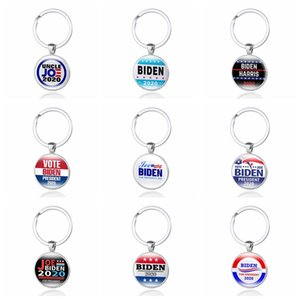 12 Styles JOE Biden 2020 Keychain Pendant Joe Biden For President Keyring US President Badge Key Chain Party Favor ZZA2199 120Pcs