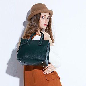 Lucky2019 Mi Yang Woman Head Layer Cowhide Blackish Green Single Shoulder Killer Package