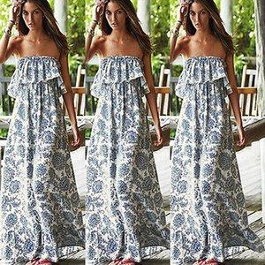 매우 인기있는 새로운 섹시한 여성 파티 플로랄 비치 드레스 보헤미안 어깨 긴 맥시 드레스를 위한 아름다운 여자이고 여성 무료배송