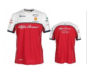 F1 Formula 1 T-shirt de mangas curtas 2020 novo Alfa Romeo Racing Suit em torno do pescoço de secagem rápida de manga curta