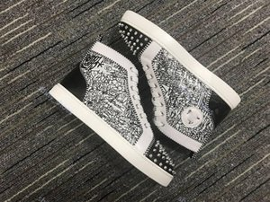 xshfbcl Top Red Bottom Leather lussuoso Flat Soled Casual Shoes women man progettista Fashion Black White Gold Pink Party Couple Dress Shoes