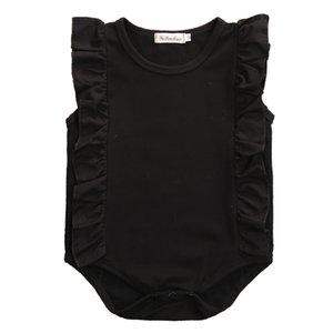 Säuglingsbaby-Spitze gekräuselte Body Kleidung 2017 Sommer Newborn sleeveless Overall Outfits Kleidung