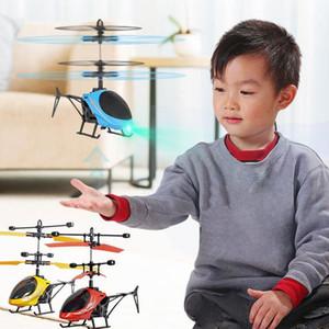 Mini RC Drone Fly RC Helikopter Uçak Süspansiyon İndüksiyon Helikopter Çocuklar Oyuncak LED Işık Uzaktan Kumanda Oyuncaklar Çocuk patlamanın için