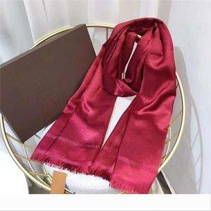Designer Silk Scarf Fashion Man Women 4 Season Shawl Scarf Letter Scarves Size 180x70cm 6 Color Hig