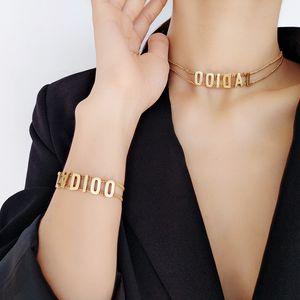 Top Brand tessuto Braccialetto Delle Donne D Gioielli In Cotone Lettera firma Handmade Del Braccialetto inglese lettera catena d'oro