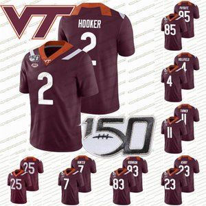 Virginia Tech Hokies 150 jersey # 25 2 Hendon Hooker Tayvion Robinson Quincy Patterson Tre Turner Devon Hunter Rayshard Ashby College Football