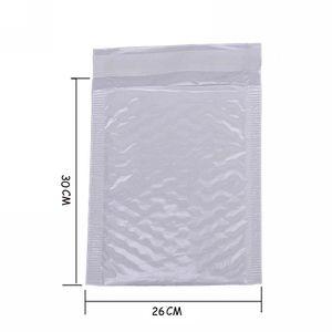 도매 - 4X 가와이이 방수 화이트 펄 필름 Bubbel 버블 메일 링 가방 26 * 30 봉투 불레 가방 메일러 패딩 배송 봉투