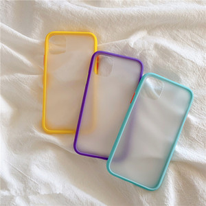 Mint hybride Simple Matte Bumper cas de téléphone pour l'iPhone 11 Pro Max XR XS Max 6S 8 7 plus souple anti-choc TPU silicone