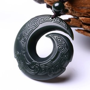 Drop shipping XinJiang HeTian Jade Pendant Lucky Amulet Transport Necklace With Chain For Men Women Jade Jewelry Gift