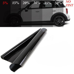 Yeni 600x50 cm VLT Siyah Arabalar Pencere Tonu 5% -50% Araba Oto Ev Windows Cam Renklendirme Film Rulo Güneş UV Koruma Sticker Filmleri