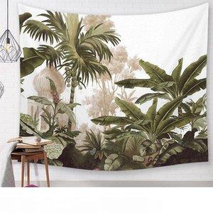 feuilles vintage feuille de bananier décor tenture arbre de palmier tapisserie murale jungle tropicale forêt tropicale tissu décoratif tenture