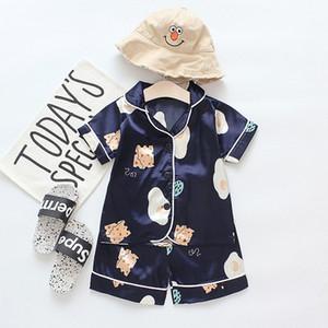 I bambini Moda Pigiama delle ragazze dei ragazzi Estate Casual Sleepwear Orso del bambino del fumetto di marca Home Service Moda vestiti di modo Pigiama Top Quanlity