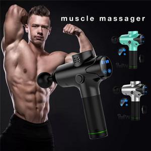 Masaje muscular profundo pistola 20 Velocidad de Tejido Terapia Fascia masajeador pistola Ejercicio Deportes alivio del dolor de cuerpo Vibrador Con 6 Ejercicio Jefes EM03