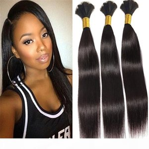 hot bulk human hair wholesale cheap #1B hair bulk without weft brazilian Straight bulk human hair for braiding black women