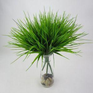 36cm 새로운 7 포크 녹색 잔디 인공 꽃 식물 플라스틱 꽃 가구 장식 파티 홈 룸 장식 GB135