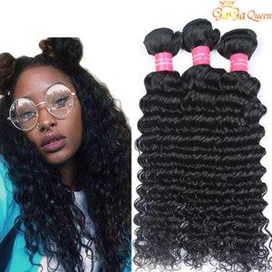 Unprocessed Peruvian Indian Brazilian Deep Wave Hair Extensions Brazilian Deep Wave Virgin Human Hair Weaves Bundles No Tangle