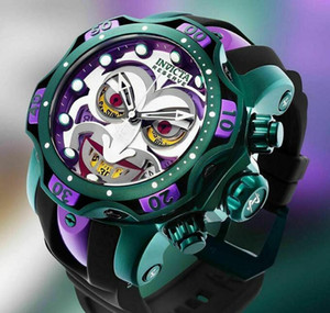 Autorización marca INVICTA original de DC Comics Joker producción común del modelo: 26790 30063 reloj de los hombres del cronógrafo de cuarzo + caja original