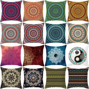 Boho Stili Baskı Yastık Kapak Mandala Desenli Yastık Kılıfı Yumuşak Şeftali Cilt Koltuk Yastık Kapak Bohemian Yastık Kapak 40 VT0844 Tasarımları