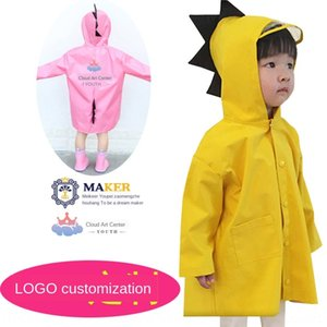 Baby children raincoat female boy kindergarten students children poncho 2-10 Cloak cloak years old dinosaur cloth raincoat