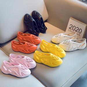 2020 летние пляжные тапочки пены бегун роскошные отверстия слайды кости детские сандалии Детская обувь мальчик девочка молодежь малыш размер 24-35