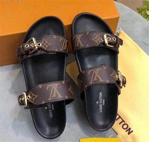Мода Роскошные дизайнерские босоножки вперед 2019 горячая распродажа сандалии для мужчин и женщин дизайнер плоские тапочки высокое качество цветок печатных тапочки