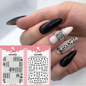 Cheap Stickers & Decals 1 sheet Adhesive 3D Nail Sticker Zebra Stripes Pattern For Nails Art Decorations Polish Women Manicure Wraps Foil