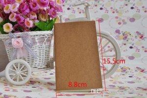 دفاتر المجلات غير المبطنة للسفر Kraft Brown Soft Cover Notebook Size 155 mm x 88mm 56 Pages 28 صفائح القرطاسية اللوازم المكتبية