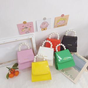 Korean Style Children Mini Handbags Tote Cute Kids Princess Messenger Bag Baby Girl Pearl Party Shoulder Hand Bags Gift M200637