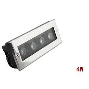 (5pcs / lot) L200 * W80 * H60MM 직사각형 4 * 1W는 지하 빛 LED 정원 빛 옥외 IP67 AC100V-240V / DC12V 선택권을지도했다