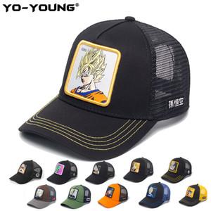 Yo-Genç Beyzbol Kapaklar Kaliteli Anime Topları Örgü Kapaklar Erkek Kadın Gorra Goku Çocuklar Snapback Yetişkin Güneş Şapka 53-59 cm Için