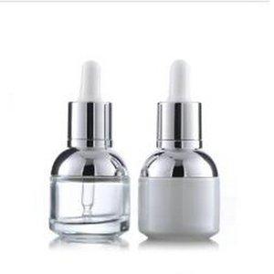 Plastik Tak Damlalık Şişe Ambalaj 30ml Cam Serum Şişe İnci Beyaz Şeffaf Kozmetik Esansiyel Yağı