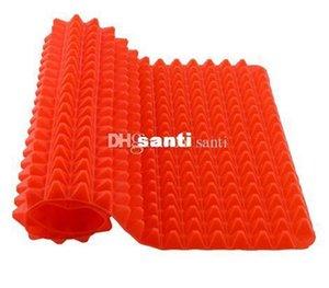 Salle à Hot Bar Creative Pyramide utile Pan silicone Non Stick Fat Mat Réduire Four Plaque de four feuille outil de cuisine