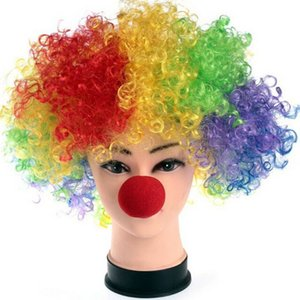 1Pc Party Sponge Ball Red Clown Magic Nose Curls Wig Wholesale Supplies Halloween Party Masquerade Clown Costume Explosion