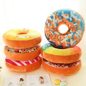 Weihnachten 40cm Sofa Dekorative nette Simulation Kissen weicher Plüsch Kissen Ohne Gefüllte Sitzkissen Donut Foods Kissen Fall Spielzeug
