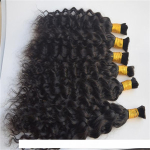 A 3 Bundles Water Wave Bulk Human Hair For Braiding Unprocessed Human Braiding Hair Bulk No Weft