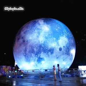 عملاق نفخ إضاءة القمر 3M / 6M القطر شخصية الحزب بالون كوكب نموذج للحفل ومهرجان الحدث الديكور