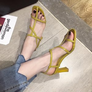 Hot2019 With High Coarse Fasciola Sandals 35-39