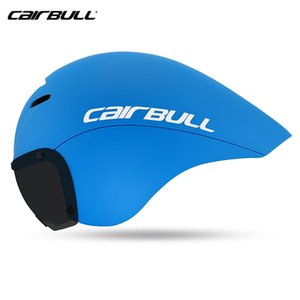 Cairbull VICTOR bicycle riding TT helmet road bike race triathlon time trial riding TT helmet optional lens casco de ciclismo