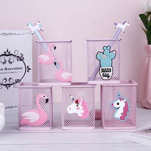 Kawaii Pink Unicorn Cactus Flamingo 1 Adet Office Ev Saklama Kutusu Vaka Kalem Kalem Tutucu Öğrenci Kırtasiye Standı yönetme
