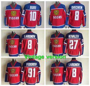 Sochi Team Russia Hockey Jersey Olympic Alexander Ovechkin Russland Jersey Russisch 8 Alexander Ovechkin Olympischen Herren-Hockey Jerseys