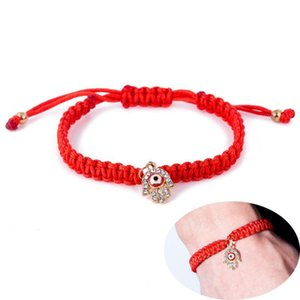 Fatima Hand Hamsa Evil Eye charm bracelets Red Braided String Rope chains Bangle For Women & Men Fashion DIY handmade Jewelry