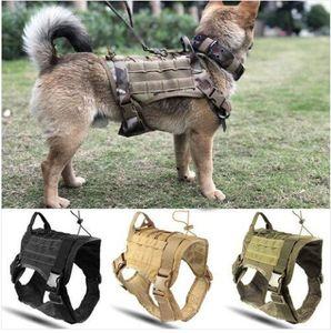 Vendas!!! Grosso Frete grátis Polícia K9 Tactical Dog Training Harness Militar ajustável Molle Nylon Vest